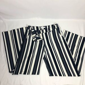 New York & Company Blue & White Stripe Dress Pants